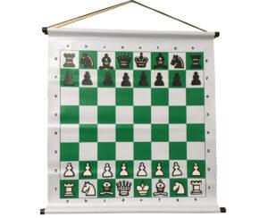 Tablero de ajedrez mural magnético color verde